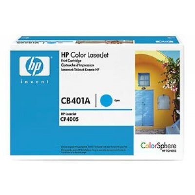 Картридж HP (CB401A) для HP Color LJ CP4005, голубой (CB401A)Тонер-картриджи для лазерных аппаратов HP<br>Свместим с HP LaserJet CP4005dn (CB504A), CP4005n (CB503A)<br>
