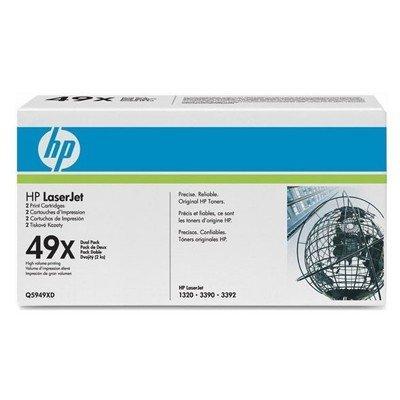 Двойная упаковка картриджа HP (Q5949XD) для HP LaserJet 1320 (12000 стр) (Q5949XD) q5949x совместимый q5949 5949 5949x 949x 49x тонер картридж для laserjet 1320 3390 3392
