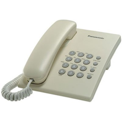 Проводной телефон Panasonic KX-TS2350 бежевый (KX-TS2350RUJ) проводной телефон panasonic kx ts2350 белый kx ts2350ruw