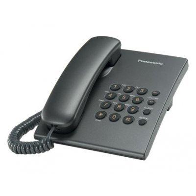 Проводной телефон Panasonic KX-TS2350 титан (KX-TS2350RUT) проводной телефон panasonic kx ts2352rub черный