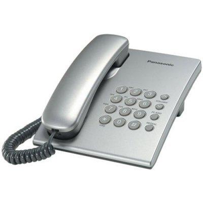 Проводной телефон Panasonic KX-TS2350 серебристый (KX-TS2350RUS) проводной телефон panasonic kx ts2352rub черный