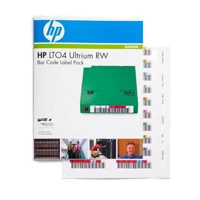 Картридж HP 1,6TB Ultrium 4 bar code label pack (100 data + 10 cleaning) (Q2009A) (Q2009A) картридж hp ultrium universal cleaning cartridge c7978a c7978a