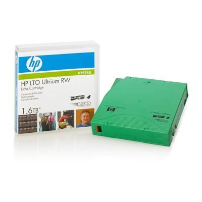 Картридж HP 1,6TB Ultrium LTO4 data cartrige RW (C7974A) (C7974A) картридж t2 для hp tc h85a laserjet p1102 1102w pro m1132 m1212nf m1214nfh canon i sensys lbp6000 cartrige 725 1600 стр с чипом