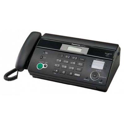 Факс Panasonic KX-FT984RU черный (KX-FT984RU)Факсы Panasonic<br>термобум., АОН, обрезка, пам.100 ном., автоподатчик 10 л., монитор<br>