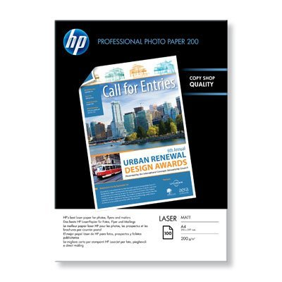 Фотобумага HP Матовая фотобумага для лазерной печати, А4, 100 листов, 200 г/м2 (Q6550A)