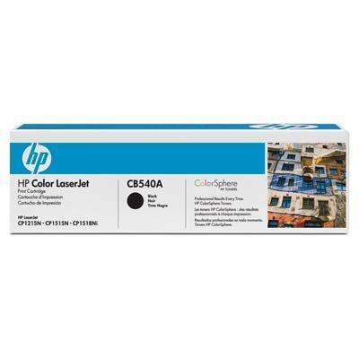 Картридж HP (CB540A) к  HP CLJ CP1215/1515, черный (CB540A)Тонер-картриджи для лазерных аппаратов HP<br>Для : HP LaserJet CM1312 (CC430A), CM1312nfi (CC431A), CP1215 (CC376A), CP1515n (CC377A) 2200 (при 5% заполнении)<br>