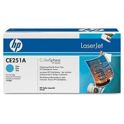 Картридж HP (CE251A) для HP LaserJet Color CP3525/CM3530, голубой (CE251A)Тонер-картриджи для лазерных аппаратов HP<br>Для HP Color LaserJet CM3530 (CC519A), CM3530fs (CC520A), CP3525dn (CC470A), CP3525n (CC469A),CP3525x (CC471A)<br>