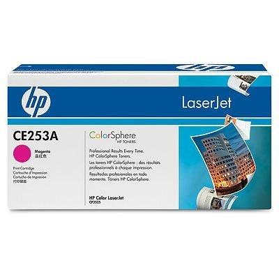 Картридж HP (CE253A)  для HP LaserJet Color CP3525/CM3530, пурпурный (CE253A)Тонер-картриджи для лазерных аппаратов HP<br>Для HP Color LaserJet CM3530 (CC519A), CM3530fs (CC520A), CP3525dn (CC470A), CP3525n (CC469A),CP3525x (CC471A)<br>