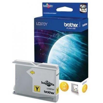 Картридж (LC970Y) Brother LC-970Y (LC970Y)Картриджи для струйных аппаратов Brother<br>Струйны картридж для DCP135C/ 150C, MFC-235C/ 260C Yellow, 300 pages (5% coverage)<br>