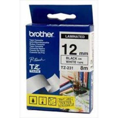 Лента для термопринтера (TZ231) Brother TZ-231 (TZ231)Термоленты для оргтехники Brother<br>Пленка в кассете Чёрный шрифт на белой основе, ширина 12мм. Для PT-1280/ 1280VP<br>