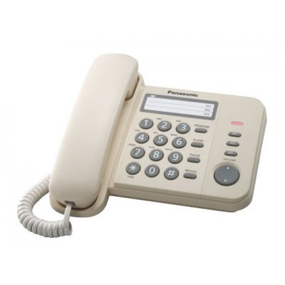 Проводной телефон Panasonic KX-TS2352 бежевый (KX-TS2352RUJ) проводной телефон panasonic kx ts2352rub черный