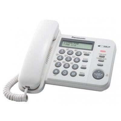 Проводной телефон Panasonic KX-TS2356 белый (KX-TS2356RUW) проводной телефон panasonic kx ts2356 белый kx ts2356ruw