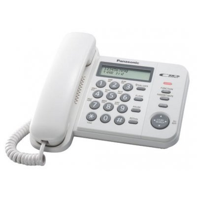 Проводной телефон Panasonic KX-TS2356 белый (KX-TS2356RUW) panasonickx ts2356 черный