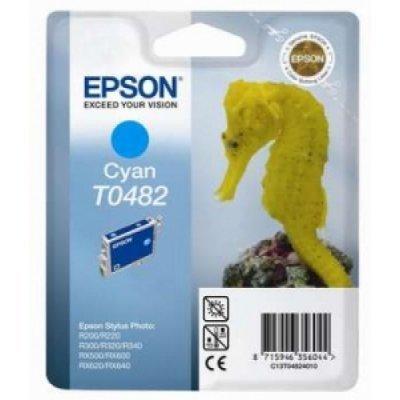 Картридж (C13T04824010) EPSON T0482 для R200/R220/R300/R320/R340/RX500/RX600/RX620 голубой (C13T04824010)Картриджи для струйных аппаратов Epson<br>для  EPSON R200/R220/R300/R320/R340/RX500/RX600/RX620 (cyan)<br>