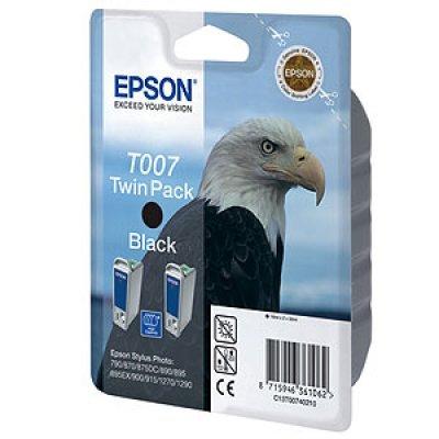 Картридж (C13T00740210) EPSON  черный (двойной) (C13T00740210)Картриджи для струйных аппаратов Epson<br>Картридж, струйный, 2х378 страниц @5% (A4) для Epson Stylus Photo 790, 870, 875DC, 890, 895, 895EX, 900, 915, 1270, 1290<br>