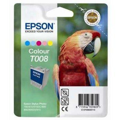 Картридж (C13T00840110) EPSON для Stylus-Photo 790/890/895/870/915 цветной (C13T00840110)Картриджи для струйных аппаратов Epson<br>Картридж, струйный, 220 страниц @5% (A4) для Epson Stylus Photo 790, 870, 875, 890, 895<br>