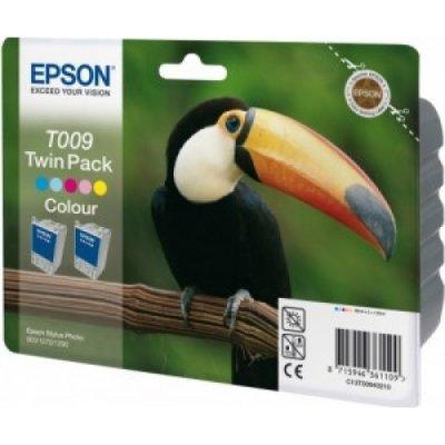 Картридж (C13T00940210) EPSON (2хC13T009401) для Stylus-Photo 1270/1290/900 цветной (C13T00940210) картридж epson color stylus photo 1270 1290 c13t00940110