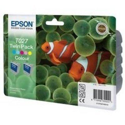 Картридж (C13T02740310) EPSON T027 для Stylus Photo 810/830/925 цветной (двойной) (C13T02740310)