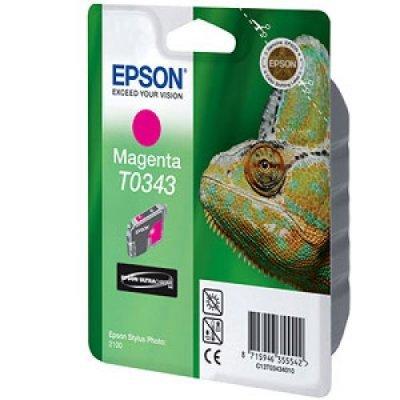 Картридж (C13T03434010) EPSON T0343 для Stylus Photo 2100 пурпурный (C13T03434010)Картриджи для струйных аппаратов Epson<br>для Stylus Photo 2100 пурпурный<br>
