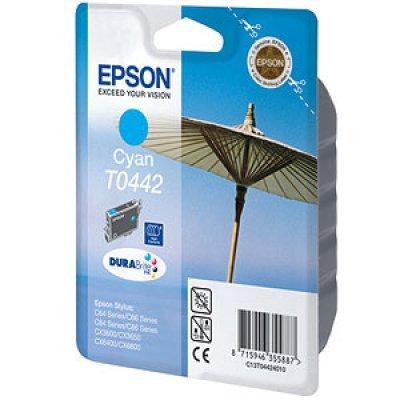 Картридж (C13T04424010) EPSON T0442 для Stylus C84/C86/CX3600/CX6600 голубой (C13T04424010)Картриджи для струйных аппаратов Epson<br>для Epson Stylus C64/ C84/ C86/ CX3600/ CX3650/ CX6400/ CX6600<br>