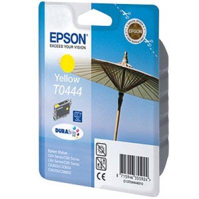 Картридж (C13T04444010) EPSON T0444 для Stylus C84/C86/CX3600/CX6600 желтый (C13T04444010)Картриджи для струйных аппаратов Epson<br>для Epson Stylus C64/ C84/ C86/ CX3600/ CX3650/ CX6400/ CX6600<br>