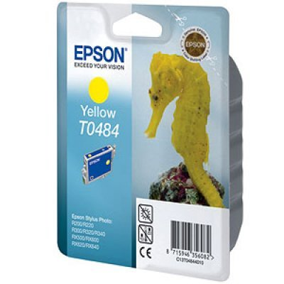 Картридж (C13T04844010) EPSON T0484 для R200/R220/R300/R320/R340/RX500/RX600/RX620 желтый (C13T04844010)Картриджи для струйных аппаратов Epson<br>13 мл<br>