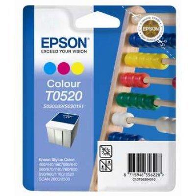 Картридж (C13T05204010) EPSON T0520 цветной (C13T05204010)Картриджи для струйных аппаратов Epson<br>35 мл для Stylus-Color 400/600/800/1520/440/640/660/670/740/760/1160 SCAN 2000/2500<br>