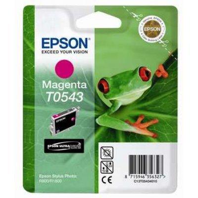 Картридж (C13T05434010) EPSON T0543 для Stylus Photo R800/R1800 пурпурный (C13T05434010)Картриджи для струйных аппаратов Epson<br>13 мл<br>