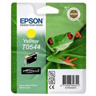 Картридж (C13T05444010) EPSON T0544 для Stylus Photo R800/R1800 желтый (C13T05444010) feuille 0544 салатник овальный v 200мг цвет белый с красным