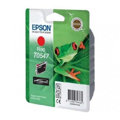 Картридж (C13T05474010) EPSON T0547 для Stylus Photo R800/R1800 красный (C13T05474010)Картриджи для струйных аппаратов Epson<br>13 мл<br>