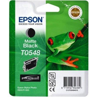 Картридж (C13T05484010) EPSON T0548 для Stylus Photo R800/R1800 черный матовый (C13T05484010)Картриджи для струйных аппаратов Epson<br>13 мл<br>