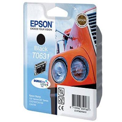 Картридж (C13T06314A10) EPSON T0631 для Stylus C67/C87 CX3700/4100/4700 черный (C13T06314A10)Картриджи для струйных аппаратов Epson<br>Емкость, мл 8. Для Epson C67/87 CX3700/4100/4700.<br>