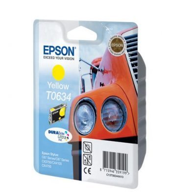 Картридж (C13T06344A10) EPSON T0634 для Stylus C67/C87 CX3700/4100/4700 желтый (C13T06344A10) el c67 color ink jet cartridges for epson c67 c87 cx3700 cx4700 cx4100 printers