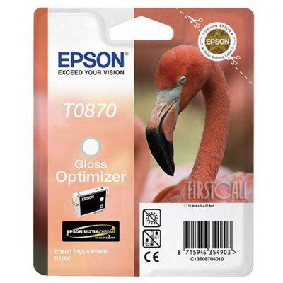 Картридж (C13T08704010) EPSON T0870 для Stylus Photo R1900 (Gloss Optimizer) двойной (C13T08704010)Картриджи для струйных аппаратов Epson<br>оптимизатор глянца, для Stylus Photo R1900, объем: 11.1мл, в упаковке 2 картриджа<br>