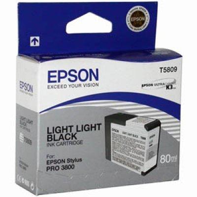 Картридж (C13T580100) EPSON для Stylus Pro 3800 (80 мл) фото черный (C13T580100)Картриджи для струйных аппаратов Epson<br>для Stylus Pro 3800<br>