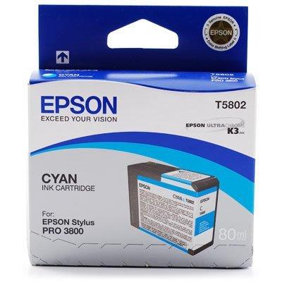 Картридж (C13T580200) EPSON для Stylus Pro 3800 (80 мл) голубой (C13T580200)Картриджи для струйных аппаратов Epson<br>для Stylus Pro 3800<br>
