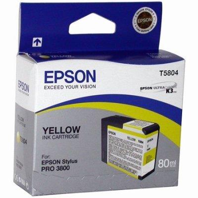Картридж (C13T580400) EPSON для Stylus Pro 3800 (80 мл) желтый (C13T580400)Картриджи для струйных аппаратов Epson<br>для Stylus Pro 3800<br>