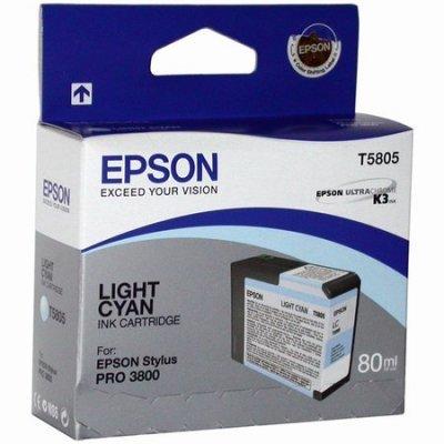 Картридж (C13T580500) EPSON для Stylus Pro 3800 (80 мл) светло голубой (C13T580500)Картриджи для струйных аппаратов Epson<br>для Stylus Pro 3800<br>