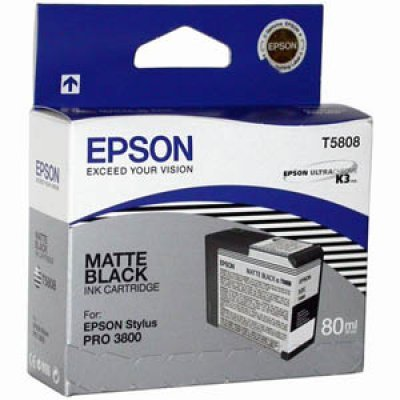 Картридж (C13T580800) EPSON для Stylus Pro 3800 (80 мл) матово черный (C13T580800)Картриджи для струйных аппаратов Epson<br>80 мл<br>