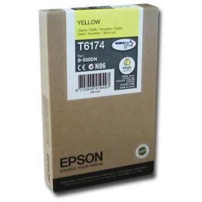 Картридж (C13T617400) EPSON для B500 (большой емкости) желтый (C13T617400)Картриджи для струйных аппаратов Epson<br>110 мл<br>