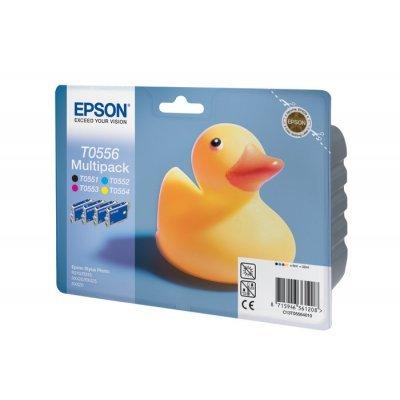 Картридж (C13T05564010) EPSON T0556 для Stylus RX520/R240 (4 цвета) (C13T05564010)Картриджи для струйных аппаратов Epson<br>Набор картриджей из 4 шт<br>