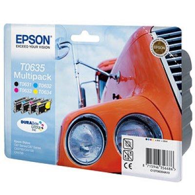 Набор картриджей (C13T06354A10) EPSON T0635 для Stylus C67/C87 CX3700/4100/4700 (C13T06354A10)Картриджи для струйных аппаратов Epson<br>набор картриджей (черный T0631 , голубой T0632, пурпурный T0633, желтый T0634)<br>