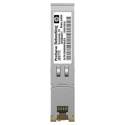 Трансивер HP ProCurve Gigabit 1000Base-T Mini Gbic (J8177C)Трансиверы HP<br>ProCurve Gigabit 1000Base-T Mini-GBIC<br>