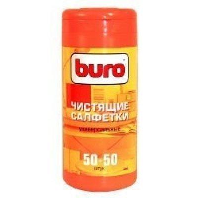 Туба с чистящими салфетками BURO, универсальные, 50 влажных и 50 сухих (BU-Tmix)Чистящие средства для дисплеев Buro<br>Чистящие салфетки BURO BU-Tmix идеально очистят поверхность от грязи и отпечатков. В комплекте 50 влажных и 50 сухих салфеток.<br>