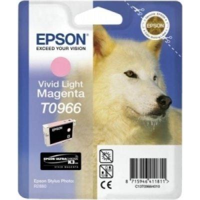 Картридж (C13T09664010) EPSON T0966 для Stylus Photo R2880 насыщенный светло пурпурный (C13T09664010)Картриджи для струйных аппаратов Epson<br>насыщенный светло пурпурный<br>