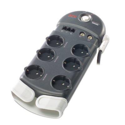 Сетевой фильтр APC Home/Office SurgeArrest 6 Outlets 230V (PH6VT3-RS) (PH6VT3-RS)Сетевые фильтры APC<br>Фильтр-удлинитель на 6 разеток, защита от перенапряжения. Защита телефонной и коаксиальной линии<br>