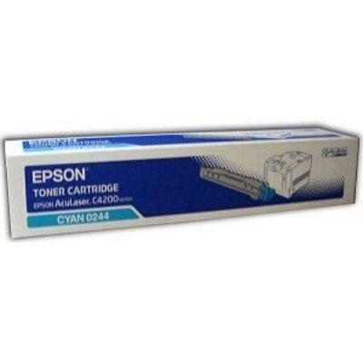 Картридж (C13S050244) EPSON для AcuLaser C4200  голубой (C13S050244)Тонер-картриджи для лазерных аппаратов Epson<br>Картридж лазерный оригинальный (Original) Epson C13S050244 для Epson AcuLaser C4200, голубой, ресурс - 8 500 стр. при 5%-ном заполнении листа формата А4<br>