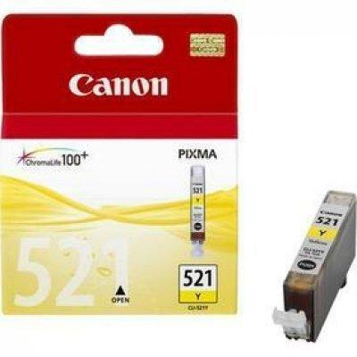 Картридж (2936B004) Canon CLI-521 желтый (2936B004)Картриджи для струйных аппаратов Canon<br>530 стр<br>