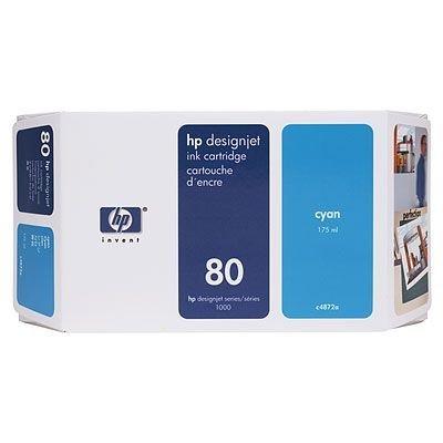 Картридж HP № 80 (C4872A) для DesignJet 1050c/1055cm 175мл, голубой (C4872A) картридж hp 80 c4874a для designjet 1050c 1055cm 175мл пурпуный c4874a