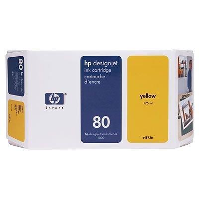 Картридж HP № 80 (C4873A)  для DesignJet 1050c/1055cm 175мл, желтый (C4873A)Картриджи для струйных аппаратов HP<br>(Описание)<br>